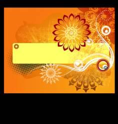 Floral grunge banner vector