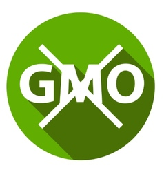 Editable gmo-free flat sign vector
