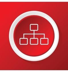 Scheme icon on red vector