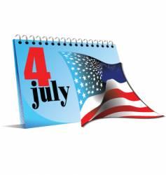 Calendar page 4 july vector