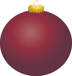 Burgundy ball ornament vector