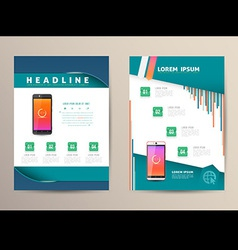 Brochure flyer design template vector