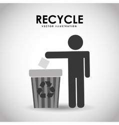Recycle icon design vector
