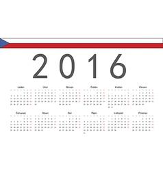 Rectangle czech 2016 year calendar vector
