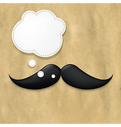 Moustaches on old paper and speech bubble vector