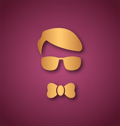 Boy with sun glasses over pink vector