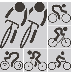 2282 cycling road icon vector