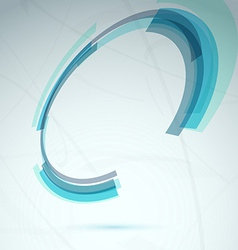 Blue spin round element abstract tech background vector