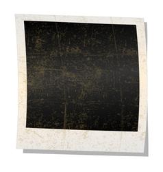 Empty polaroid photograph vector