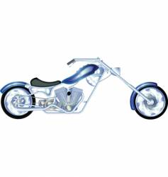 Chopper silver vector