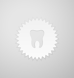 Tooth shape on the background of the circle with vector