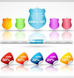 Sale design elements vector