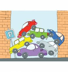 Parking for cars vector