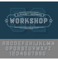 Alphabet numbers retro colour style vector