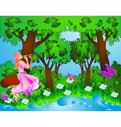 Fairyland background vector