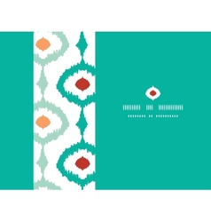 Colorful chain ikat frame horizontal seamless vector