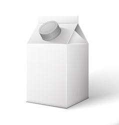 Milk juice beverages carton package blank white on vector