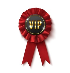 Vip realisticred label isolated on white vector