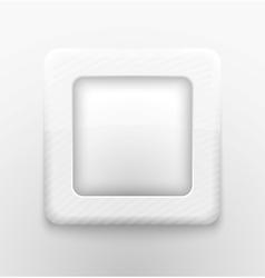 Square white button vector