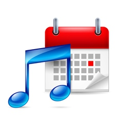 Music note and calendar vector
