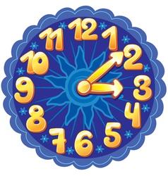 Funny cartoon clock for kids vector