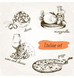 Italian set vector