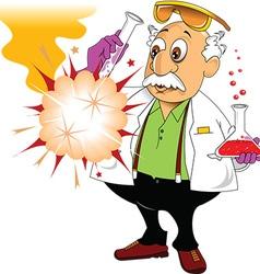Scientist doing experiment vector