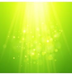 Green rays of light bokeh blurred vector