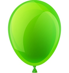 Green celebration balloon vector