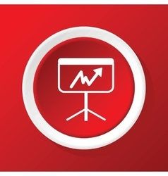 Graphic presentation icon on red vector