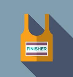 Finisher singlet of marathon runner vector