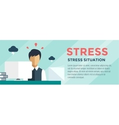 Clerk at stress  office table vector