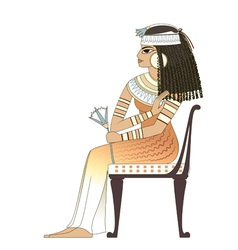 Elegant woman in ancient egypt vector