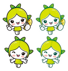 Nature fairy character vector