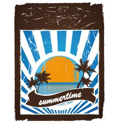 Summertime poster vector