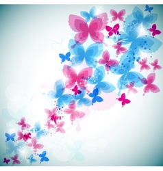 Modern butterflies background vector
