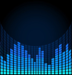 Blue digital equalizer vector