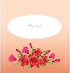 Greeting card with lilies vector