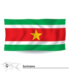 Flag of suriname vector