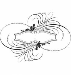 Baroque banner calligraphy style vector