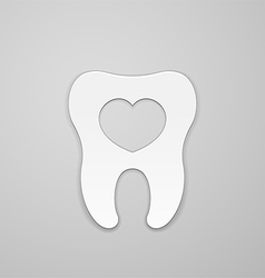 Tooth with heart vector