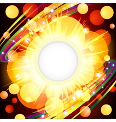 Brightly explosion web design vector