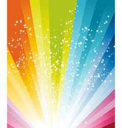 Rainbow birthday poster vector