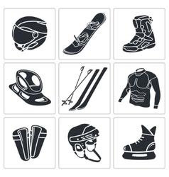 Winter sports icon set vector