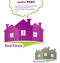 Three houses real estate vector