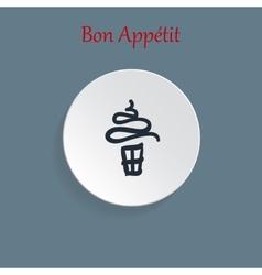 Ice cream icon vector