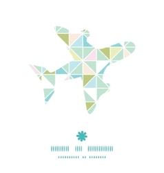Colorful pastel triangle texture airplane vector