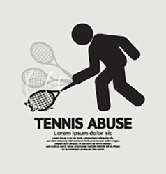 Black symbol graphic tennis abuse vector