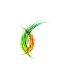 Abstract smoke green red matted vector