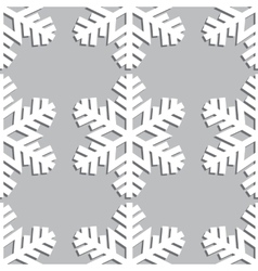Decorative abstract snowflake seamless vector